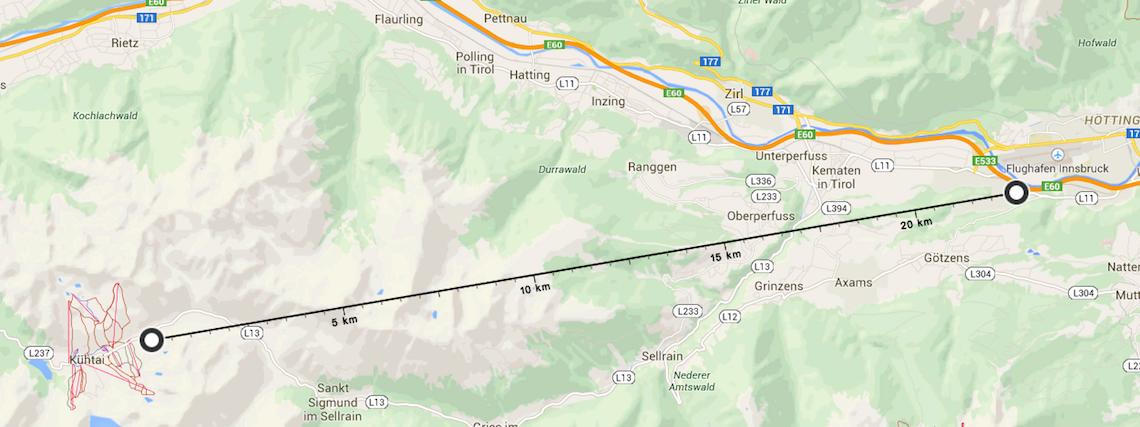 Innsbruck to Kuhtai 35 minutes