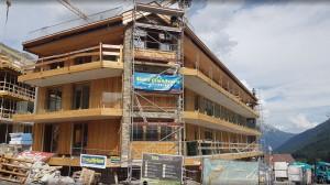Building B windows & facade finished next week