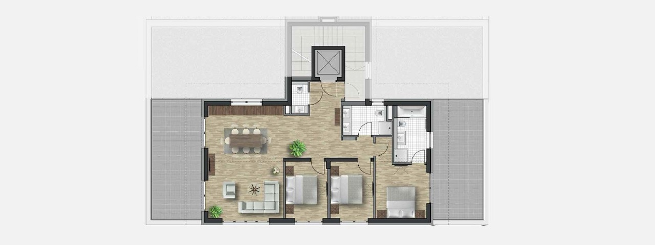Oetz property floor plan Kristall Spaces