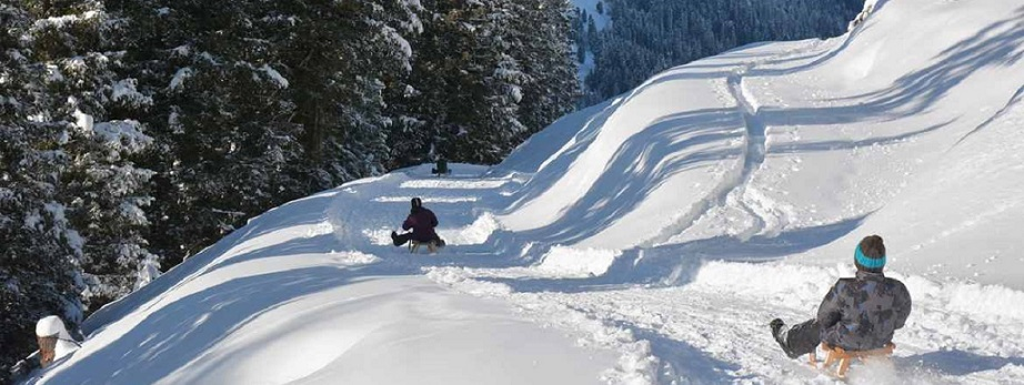 rodeln Karwendel Winter